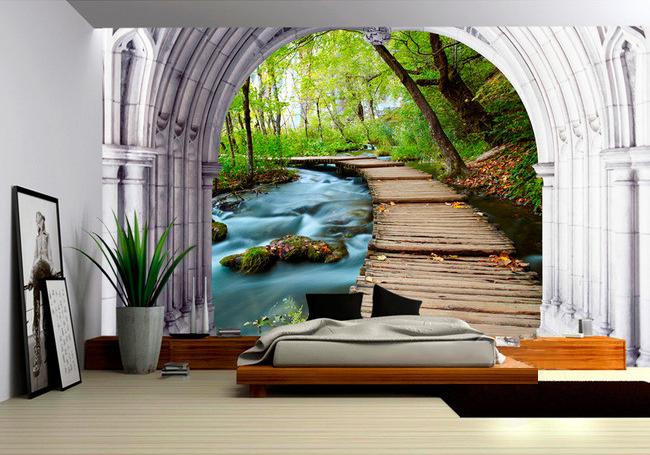 stickers muraux 3d trompe l 39 oeil. Black Bedroom Furniture Sets. Home Design Ideas