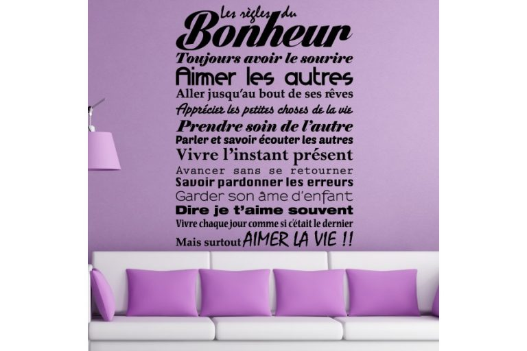 photo stickers muraux citations proverbes