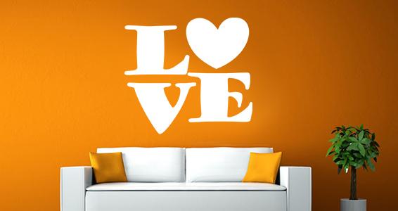 photo stickers muraux love