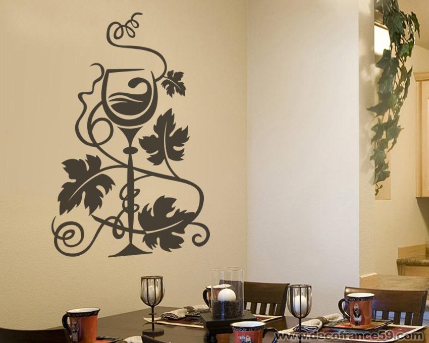 Décoration Intérieure Sticker Muraux De Décoration Verre à Vin