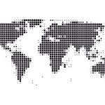Stickers muraux mappemonde