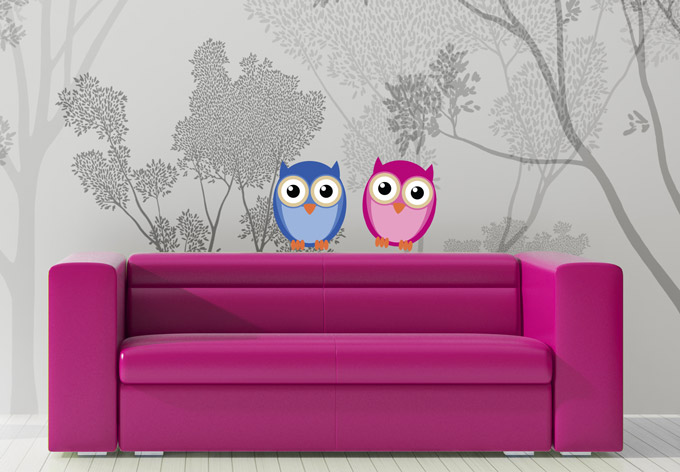 photo stickers muraux hibou