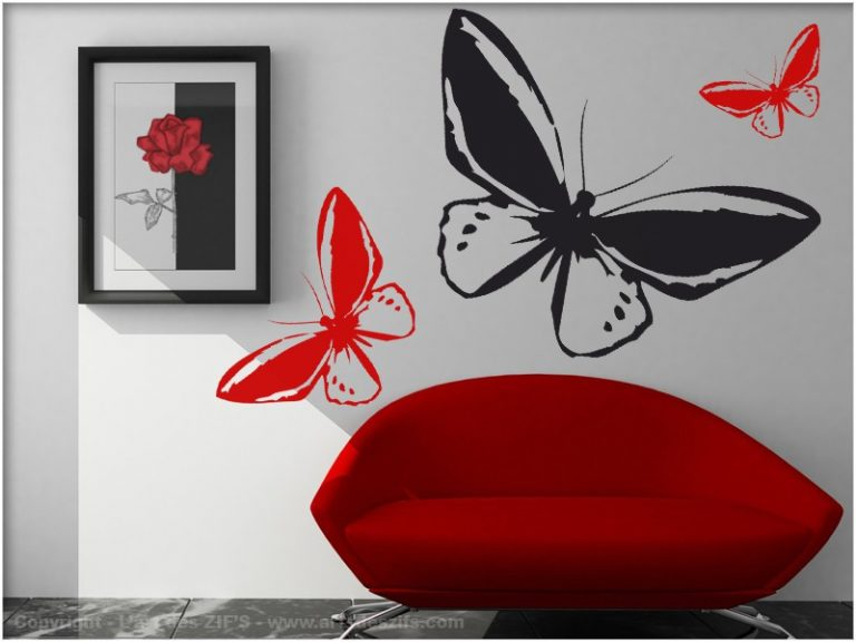 photo deco stickers papillon