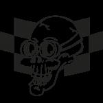 Deco stickers tete de mort