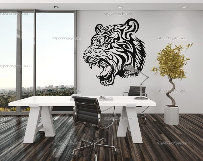 photo stickers muraux tigre