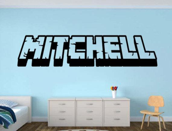 photo stickers muraux minecraft