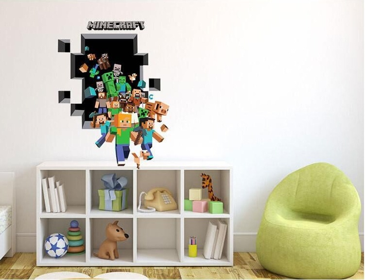 photo stickers muraux minecraft